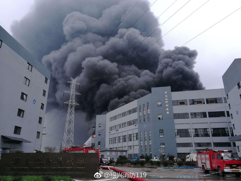 绍兴市柯桥区钱清镇一厂房发生火灾 没有人员伤亡