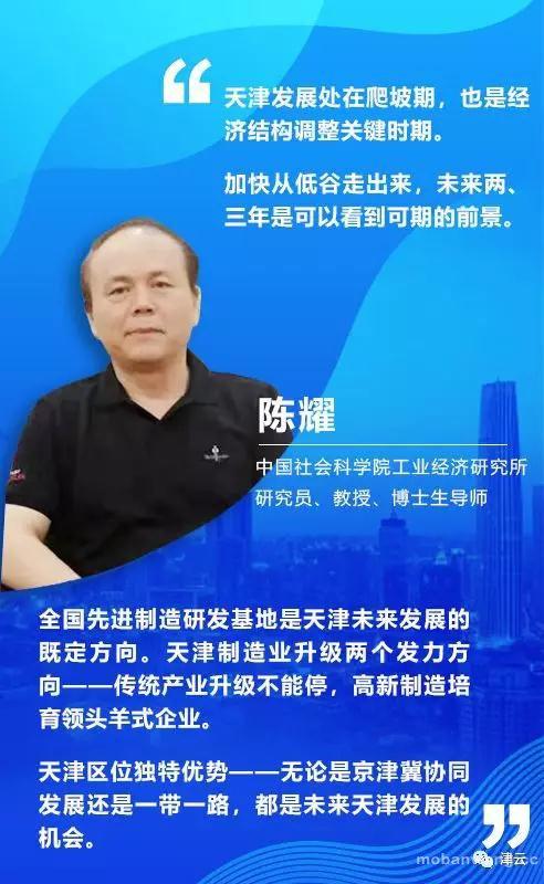 【闻鼓论津】陈耀:天津推进高质量发展 制造业升级双向发力