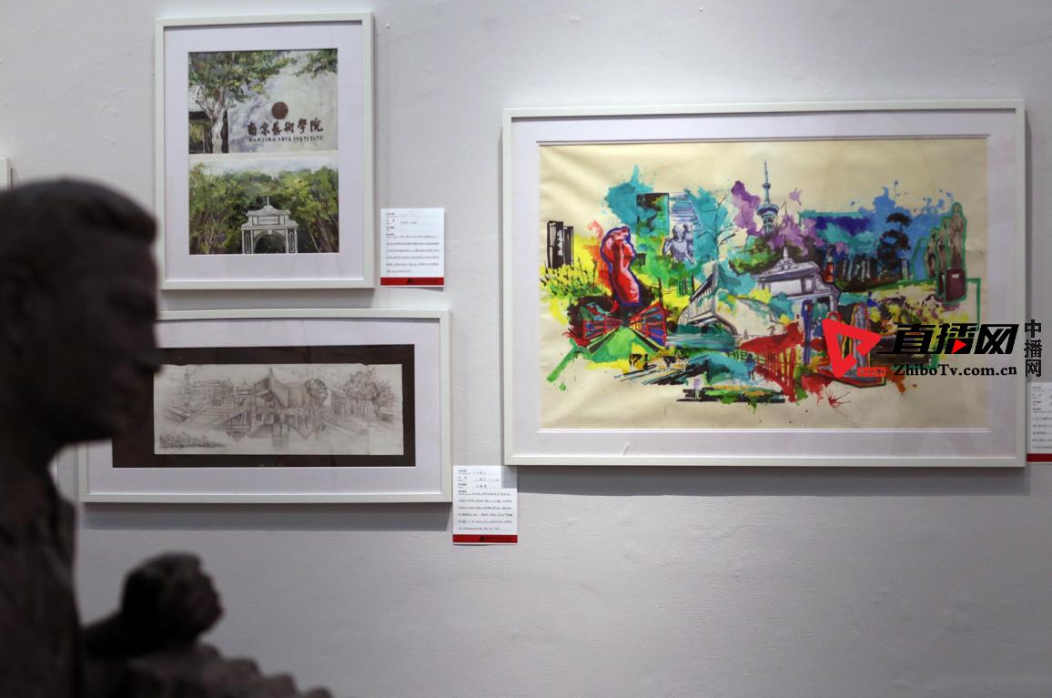 南艺学子百幅手绘校园作品表达艺术初心